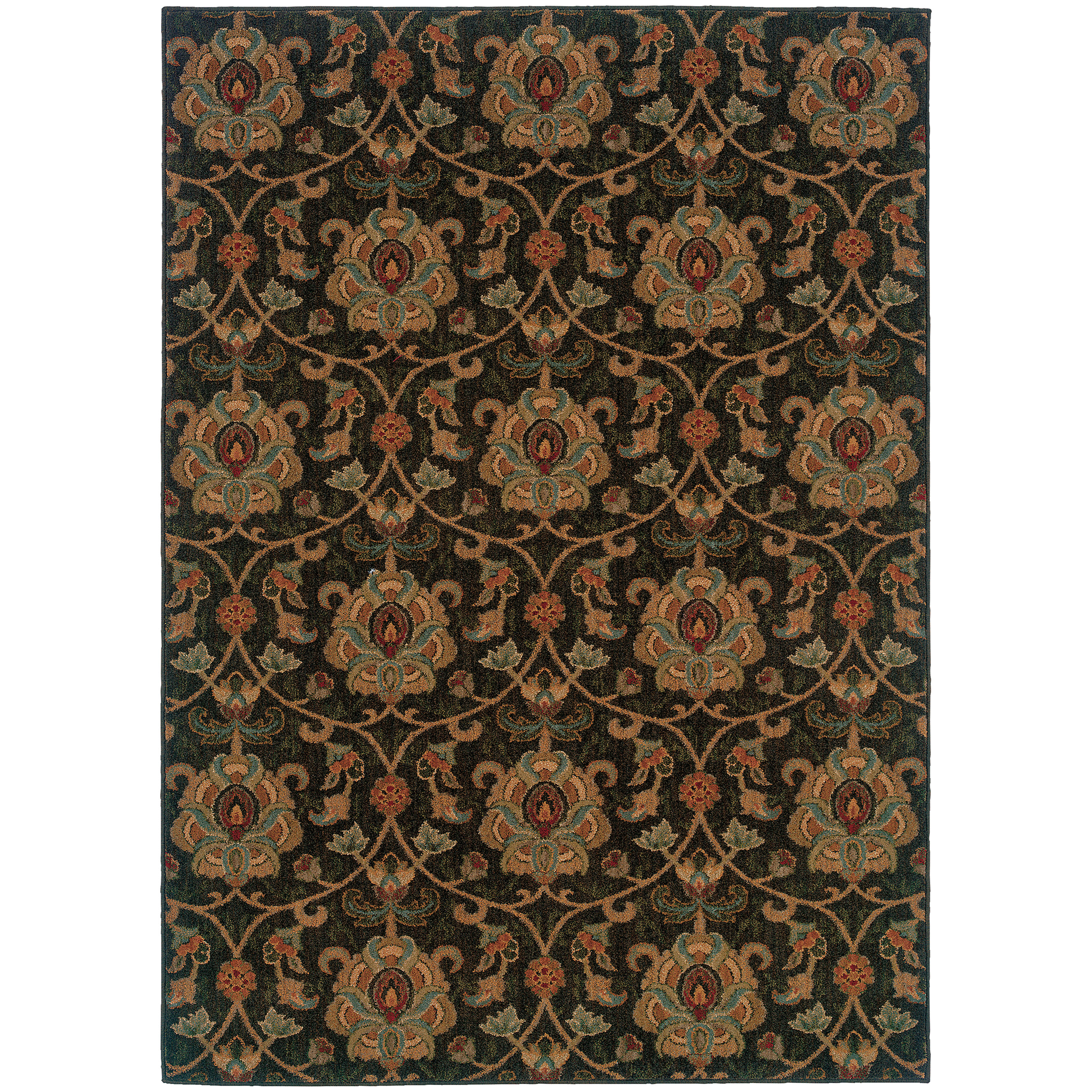 Sphinx Oriental Weavers Infinity 1724e Black Gold Area Rug Fovama