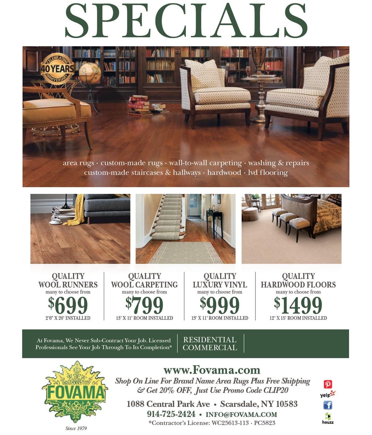 2020 Fovama Rug Flooring Specials